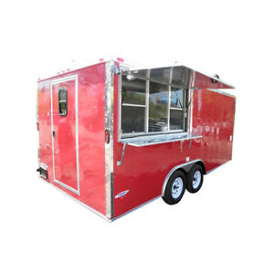 Concession Trailer 8 5 X 17 Red Vending Event Catering Food