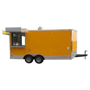 Concession Trailer 8 5 x17 Yellow Catering Food Event Vending