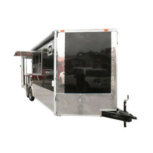 Concession Trailer 8 5 x20 Black Smoker Bbq Catering Event