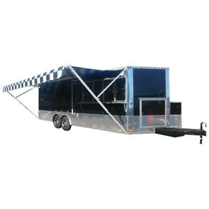 Concession Trailer 8 5 x24 Black Bbq Food Vending Catering