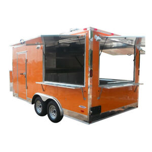 Concession Trailer 8 5 x16 Orange Catering Food Bbq Event