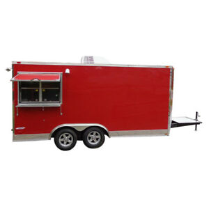 Concession Trailer 8 5 x16 Red Food Vending Catering Event