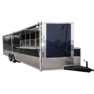 Concession Trailer 8 5 x24 Blue Catering Food Vending Event With Appliances