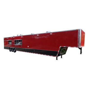 Concession Trailer 8 5 x53 Gooseneck Event Bbq Smoker Catering Food red
