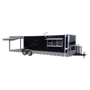 Concession Trailer 8 5 x30 Food Event Catering Bbq Smoker black
