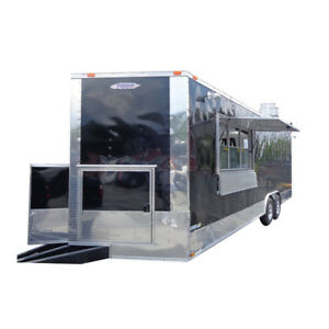 Concession Trailer 8 5 x24 Black Food Event Catering Vending