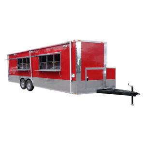 Concession Trailer 8 5 x24 Red Food Catering Vending Event