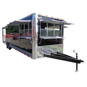 Concession Trailer 8 5 x30 Black Bbq Smoker Event Food Catering
