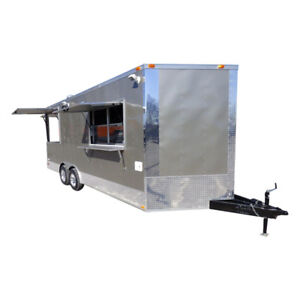 Concession Trailer 8 5 x20 Pewter Vending Event Food Catering