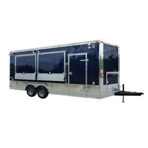 Concession Trailer 8 5 x20 Indigo Blue Enclosed Kitchen Food Catering