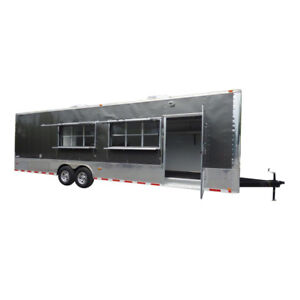 Concession Trailer 8 5 X 30 Charcoal Gray Catering Food Vending