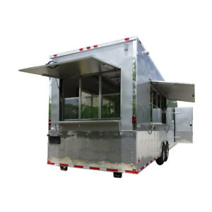 Concession Trailer 8 5 X 30 Silver Frost Catering Event Food Trailer