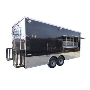 Concession Trailer Black 8 5 X 20 Food Catering Event