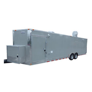 Concession Trailer 8 5 x28 Dove Gray Vending Food Bbq Catering