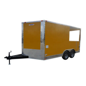 Concession Trailer 8 5 x14 Yellow Smoker Bbq Catering Event