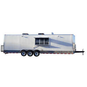 Concession Trailer 8 5 X 30 White Food Event Catering