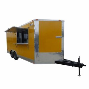 Concession Trailer 8 5 X 18 Yellow Food Event Catering