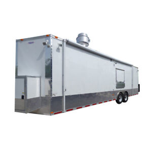 Concession Trailer 8 5 X 28 White Food Event Catering