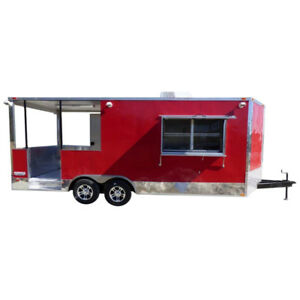 Concession Trailer 8 5 X 20 Red Bbq Event Catering