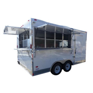 Concession Trailer 8 5 X 15 White Food Event Catering