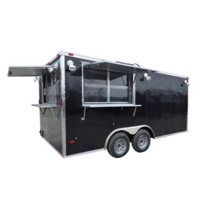 Concession Trailer 8 5 X 16 Black Event Catering Concession