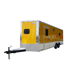 Concession Trailer 8 5 X 20 Yellow Event Catering Food Vending