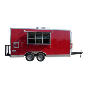 Concession Trailer 8 5 X 16 Red Catering Event Trailer