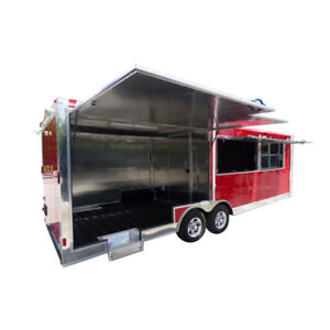 Concession Trailer 8 5 X 24 Red Smoker Concession Trailer