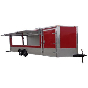 Enclosed Trailer 8 5 X 24 Red Car Hauler Catering Event Trailer