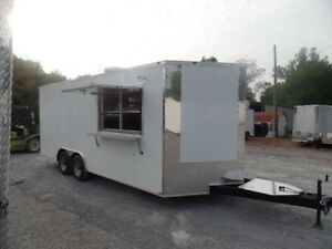 Concession Trailer 8 5 X 20 White Food Event Catering Elite