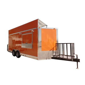 Concession Trailer 8 5 X 18 Orange Food Event Catering