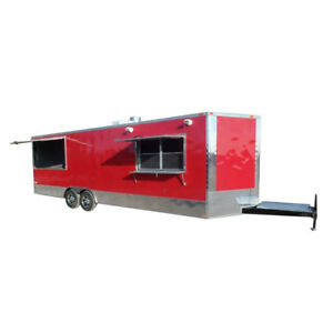 Concession Trailer 8 5 X 26 Red Food Event Vending