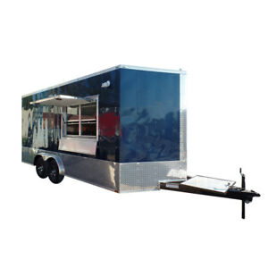 Concession Trailer 8 5 X 18 Indigo Blue Food Event Catering