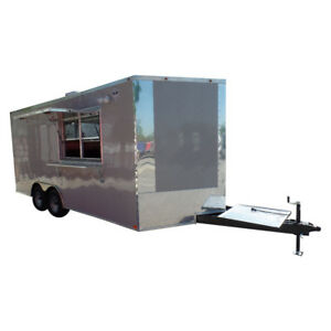 8 5 X 18 Concession Trailer Dove Grey Food Event Catering
