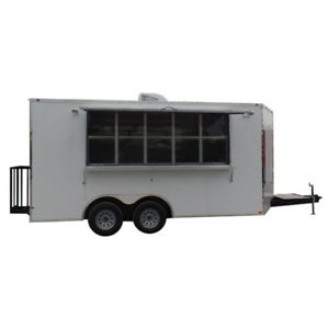 8 5 X 16 Concession Food Trailer White Event Catering