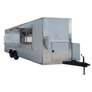 Concession Trailer 8 5 X 20 White Food Event Catering