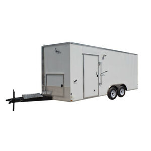 Concession Trailer 8 5 X 18 White Food Event Catering