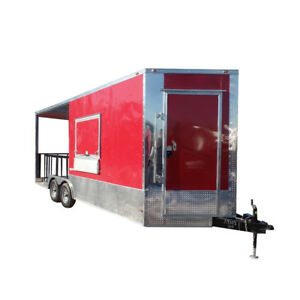 8 5 X 20 Concession Food Trailer Red Bbq