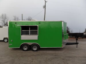 Concession Trailer 8 5 X 16 Electric Green Event Food Catering