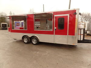 8 5 X 20 Concession Food Red Kettle Corn Trailer