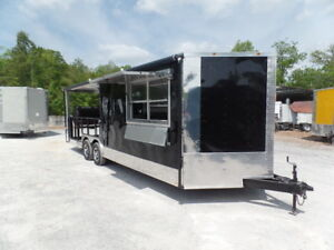 Concession 8 5x24 Black Porch Style Trailer