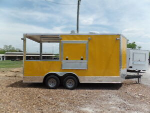 Concession 8 5x16 Yellow Food Catering Event Trailer