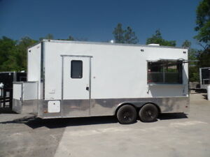 Concession 8 5x18 White Event Food Catering Trailer