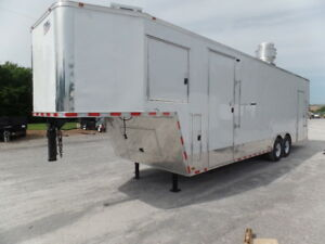 8 5x34 Gooseneck Concession Enclosed Food Event Trailer