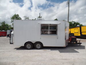 White 8 5x16 Concession Food Event Trailer