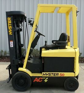 Hyster Model E50z 33 2004 5000lbs Capacity Great 4 Wheel Electric Forklift