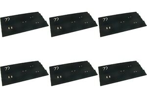6 Black Velvet Earring Display Tray Inserts 14 1 8 X 7 5 8