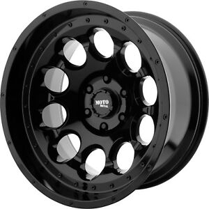17x9 Black Moto Metal Mo990 Rotary Wheels 8x6 5 12 Lifted Fits Chevrole