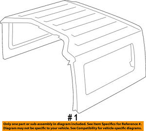 Jeep Chrysler Oem 11 16 Wrangler Removable Top Hardtop Shell 1pj03rxfak