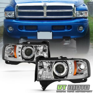 1994 2001 Dodge Ram 1500 1500 2500 Led Halo Projector Headlights W corner Signal